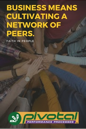 cultivating a network of peers