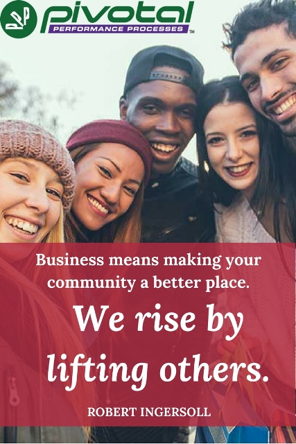 business means making community better place